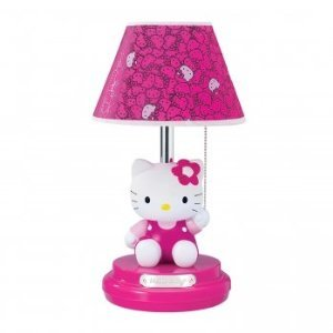 Hello Kitty KT3095M Table Lamp (Magenta Lamp)