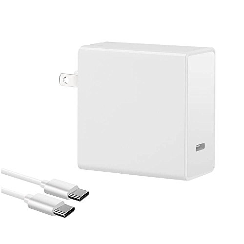 45W USB PD Type-C Charger Power Adapter with Fast Charge for iPhone X/8/8 Plus Chromebook Pixel Nexus 5X/6P Moto Z Huawei Matebook LG G5/G6 GoPro Hero with 5ft USB-C Charge Cable by ZDJING