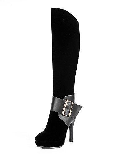 XZZ  Damenschuhe - Stiefel - Kleid   Party & Festivität - Vlies - Stöckelabsatz - Rundeschuh   Geschlossene Zehe   Modische Stiefel - Schwarz B01L1GJLTM Sport- & Outdoorschuhe Saisonaler heißer Verkauf