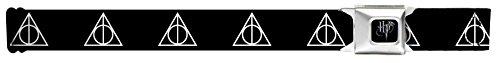 Harry Potter Deathly Hallows Symbol Black Seatbelt Belt