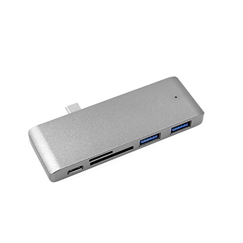 Liobaba 5 in 1 Type C to USB3.0 Hub Adapter Card Reader Conv