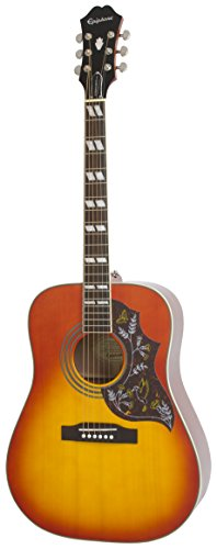 Top Solid Body Electric Guitar - Epiphone HUMMINGBIRD PRO Solid Top Acoustic/Electric  Guitar