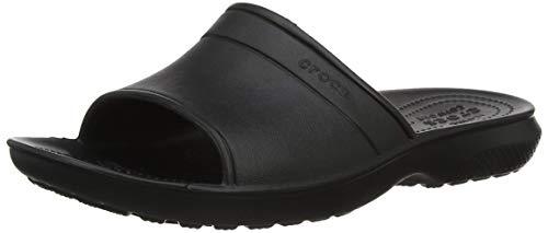 crocs Classic Slide Sandal, Black, 10 US Mens / 12 US Womens