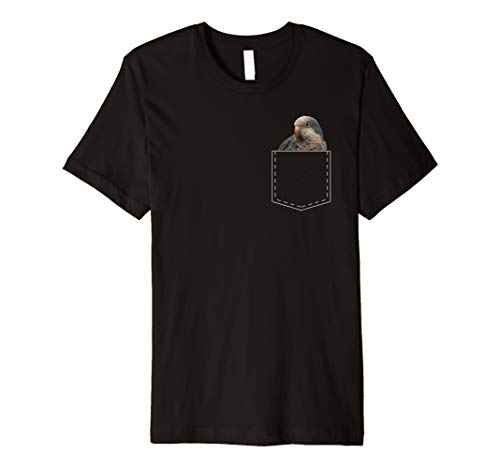 Monk Parakeet - Blue Quaker Parrot TShirt Monk Parakeet Lover T Shirt Gift