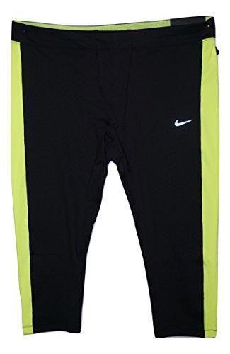 NIKE Womens Plus Color Block Cropped Yoga Legging Black 3X Nike Yoga Block