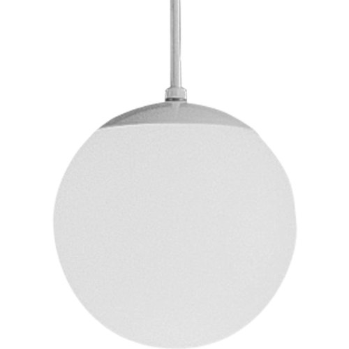 Progress Lighting P4401-29 Opal Cased Globes Provide Evenly Diffused Illumination White Cord, Canopy and Cap, Satin ()
