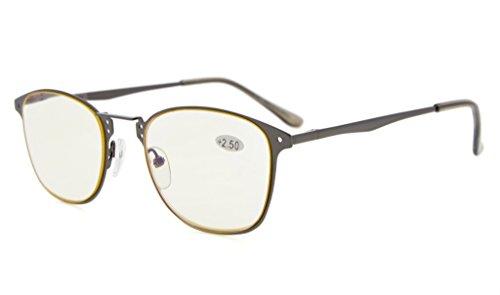 Eyekepper Readers Quality Spring-hinge Retro Computer Reading Glasses (Yellow Lens, +2.50)