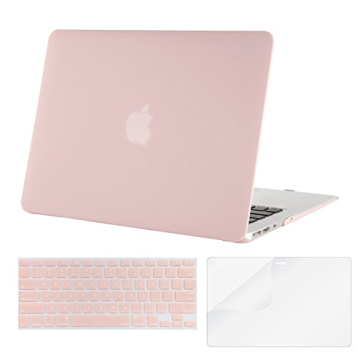 Buy Bargain Mosiso Plastic Hard Case with Keyboard Cover with Screen Protector for MacBook Air 13 in...