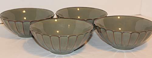 "Sango Society Avocado SET/4 ~Large Soup Cereal Bowls 7 1/4"""