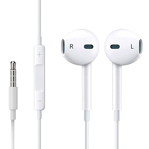 BBHCDB Earphones with Microphone and Volume, In-Ear Earbuds Noise Isolation, Headphone,Earphones with Stereo Mic & Volume Remote Control for Apple,Android and IPhone … (white)