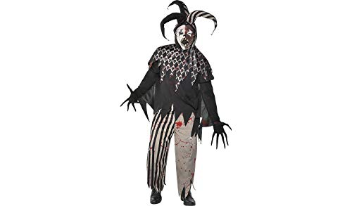 Amscan Twisted Jester Halloween Costume for Men, Plus Size, with Included Accessories -