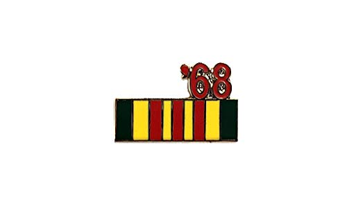 (Vietnam Veteran 1968 Ribbon Lapel Hat Pin Marines Army Navy Air Force PPM796)