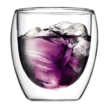 Bodum Pavina 8-Ounce Double Wall Glass, Pack of 2, Small, Clear