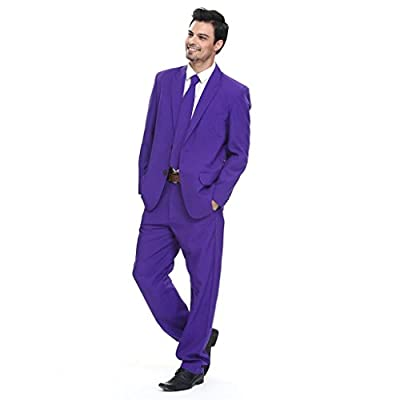 YOU LOOK UGLY TODAY Mens Christmas Solid Color Bachelor Party Suit Jacket Costume With Tie by YLUT