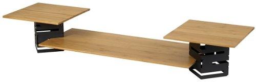 Rosseto SK003 Skycap Multi-Level 5-Piece Buffet Riser Kit, Black Matte Steel and Bamboo by Rosseto