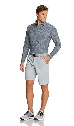 Jolt Gear, Men's Dry Fit Long Sleeve Polo Golf Shirt, Moisture Wicking, Blue XL
