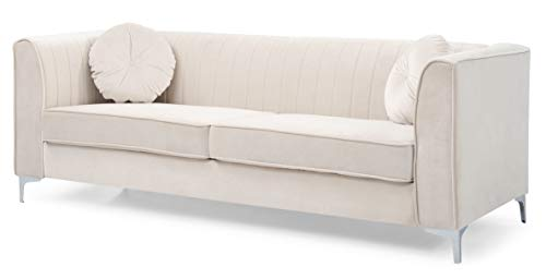 Glory Furniture Delray G797A-S Sofa, Ivory. Living Room Furniture, 32