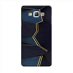 Cover It Up - Gilded Blue Fractures Galaxy A8 Hard Case