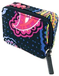 Vera Bradley Vera Bradley Travel Pill Case in Twilight Paisley with Solid Pink Lining