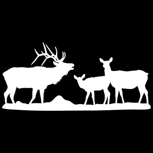 Reverse Gang (Wall Decals Mural Decor Vinyl Sticker Elk Gang White Reverse Facing Big Game Collection AL1692)