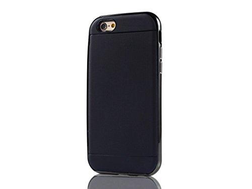 Apple iPhone 6s 6 Tough Case, Fone-Stuff® - Hybrid Starke Robuste Abdeckung mit Hartplastik-Auto-Abdeckung in Schwarz (mitgelieferte Displayschutzfolie)