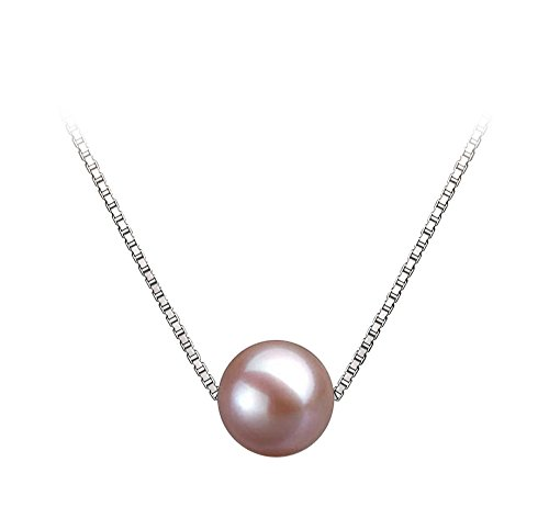 8mm Lavender Freshwater Cultured Pearl Pendant Necklace 16
