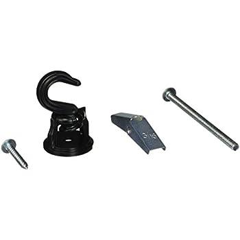 Panacea 86131 Swivel Ceiling Hook, Black