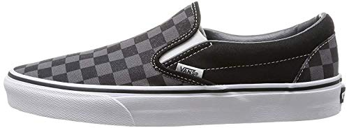 Vans Unisex Classic Slip-On (Checkerboard) Black/Pewter Checkerboard Skate Shoe 4.5 Men US / 6 Women - Box Checker