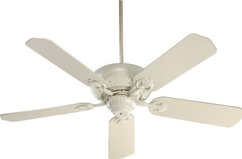 78525-67 Chateaux 5-Blade Energy Star Ceiling Fan with Antique White Blades, 52-Inch, Antique White Finish by Quorum International