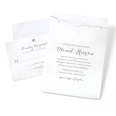 Gartner Studios 50ct Script Invitation product image