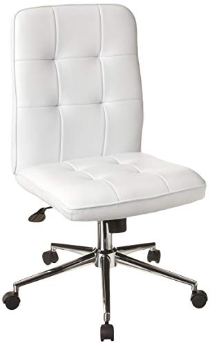 Boss Office Products Mellennial Modern Home Office Chair without Arms in White (Best Office Chair In The World)