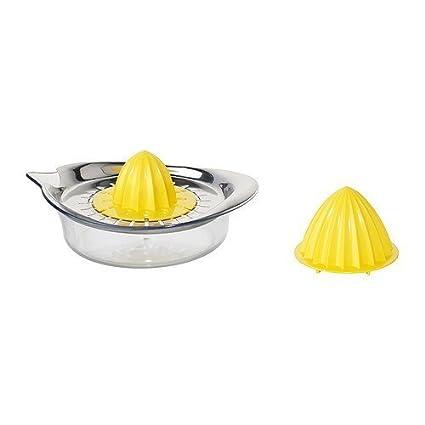 Ikea SPRITTA – Exprimidor Transparente Amarillo Acero Inoxidable