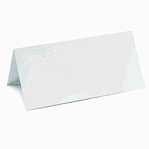 Plain White Place Cards (Pack Of 50 Place Cards) - Ideal For Wedding Receptions, Parties, Business Meetings, Conferences, Restaurants, Cafes Or Any Special Occasion
