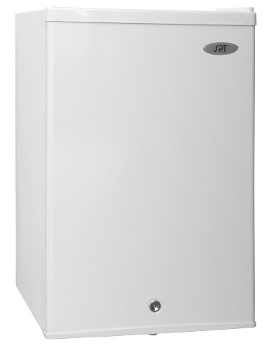 SPT UF-214W Upright Freezer, 2.1 Cubic Feet, Energy Star, White (Spt 2-4 Cu Ft Compact Refrigerator Stainless Steel)