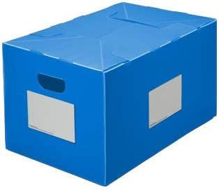 Classic PackAways Reusable Plastic Storage Box Collapsible Tote, Lightweight, Water-Resistant, 16 Gallon, Blue Pack of 6