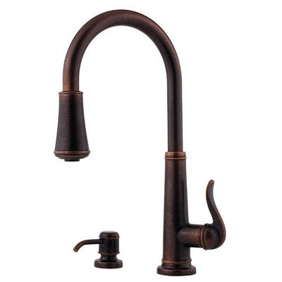 Pfister Ashfield 1-Handle Pull-Down Kitchen Faucet with Soap Dispenser, Stainless Steel