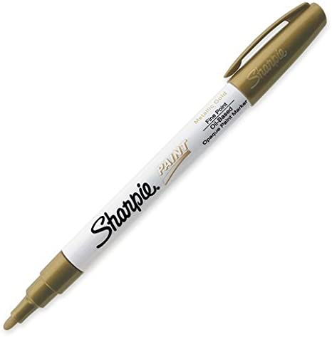 Sharpie Oil Based Paint Marker Fine Point Metallic Gold 1 Count Great For Rock Painting