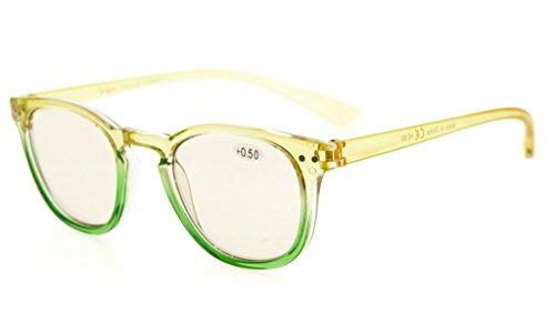 Eyekepper Blue Light Blocking Glasses Digital Eye Strain Prevention Womens Computer Eyeglasses (Yellow-Green Frame, - Digital Eyeglasses