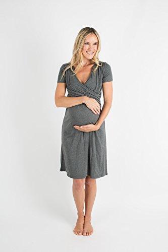 Baby Be Mine Ultra Soft Maternity / Nursing Nightgown Dress, Breastfeeding Nightwear