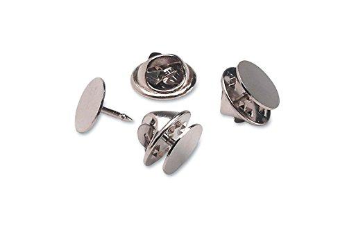 Darice Brass Clutch Nickel 12 Pack