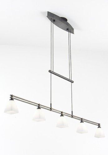 Holtkoetter 5515 HBOB G5015 Halogen Low-Voltage Contemporary Chandelier, Hand-Brushed Old Bronze with Tornado Glass, 9