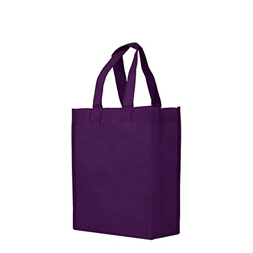 Reusable Gift/Party/Lunch Tote Bags - 25 Pack - Deep Purple