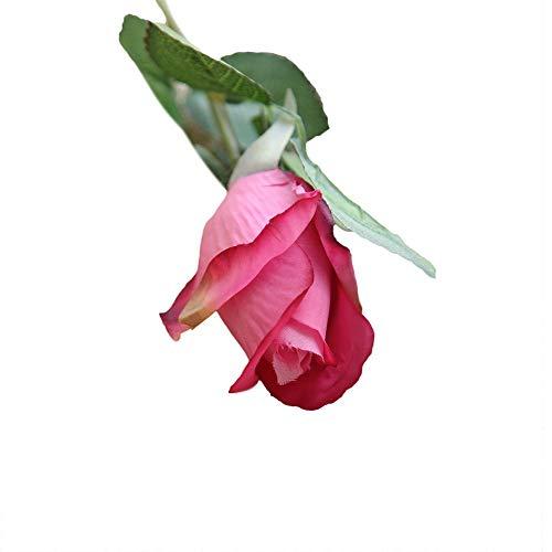 VOWUA Artificial Flowers Natural Pretty DIY Silk Fake Flowers Lifelike Leaf Rose Floral Wedding Home Decor Hot 6 Pcs ()
