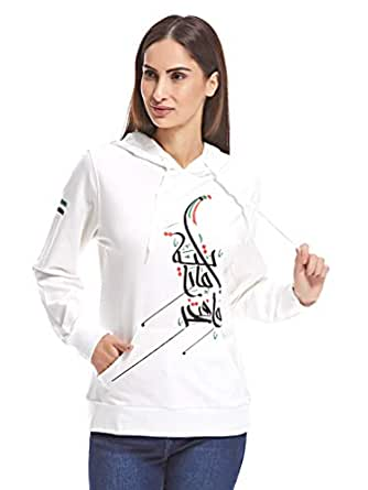 Kashe5 Designs KASND03HOD.EMARATIYA01 Hoodie for Women - White