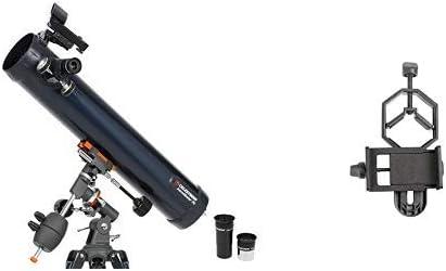 Celestron astromaster 114eq Newton telescopio MD con smartphone adaptador