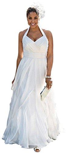 SAMPLE: Soft Chiffon Halter Wedding Dress