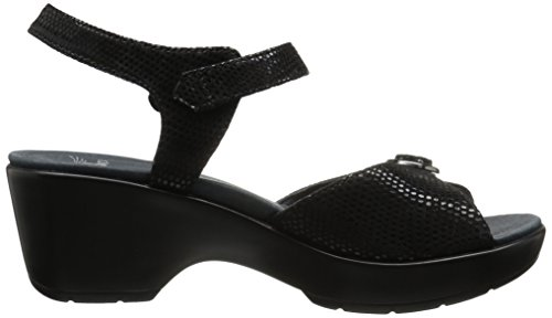 Sandal Women's June Flat Dansko Black Lizard x18UwAnt