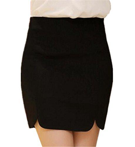 Slim Jupe Jupe Mini Skirt Fit Stretch Haililais Haute Femelle Jupe Taille Court Taille Jupe Jupe Grande Black1 t Femme Unie en Couleur qzxPwR