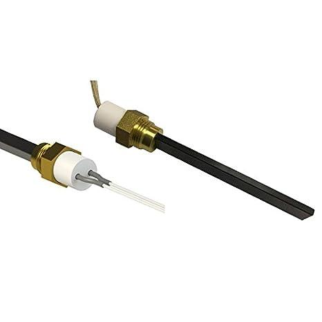 Elemento calefactor de baja tensión para estufas de pellet, longitud total 126 mm, 120 W a 24 V: Amazon.es: Bricolaje y herramientas