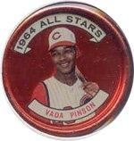 1964 Topps Metal Coins (Baseball) Card# 152 Vada Pinson of the Cincinnati Reds ExMt Condition